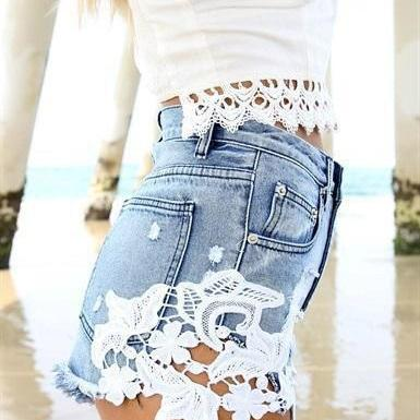 SEXY LACE STITCHING SHORTS AZ910FC