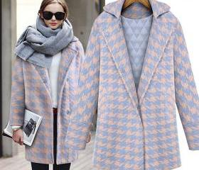 Fashion Houndstooth wool coat 5180361