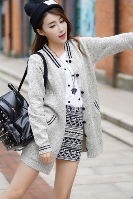 Loose knit sweater coat 5108730