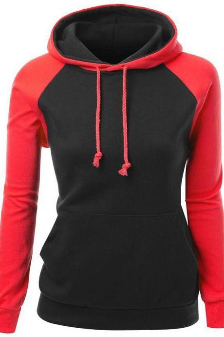 Fashion sexy stitching hooded sweater 2633028