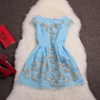 Fashion Summer outfit Embroidered Dress Mz3